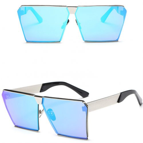 Square metal women sunglasses polarized