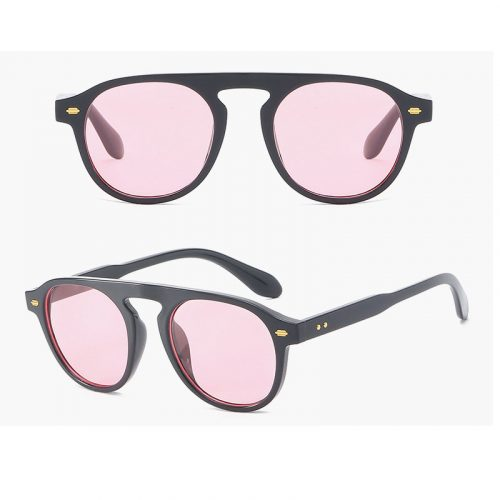 Brand Designer Ellipse Shape Multiple Color Reflective Sunglasses Women Vintage Keyhole Mirror Glasses UV400