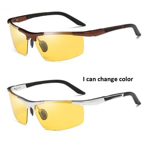 half frame aluminum magnesium color-changing unisex polarized wholesale sunglasses