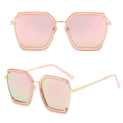 Women metal hexagon polarized wholesale sunglasses