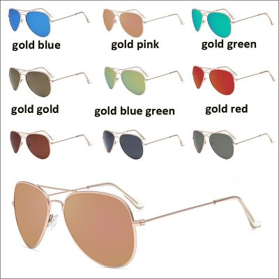 Aviator 3025 polarized blue sunglasses
