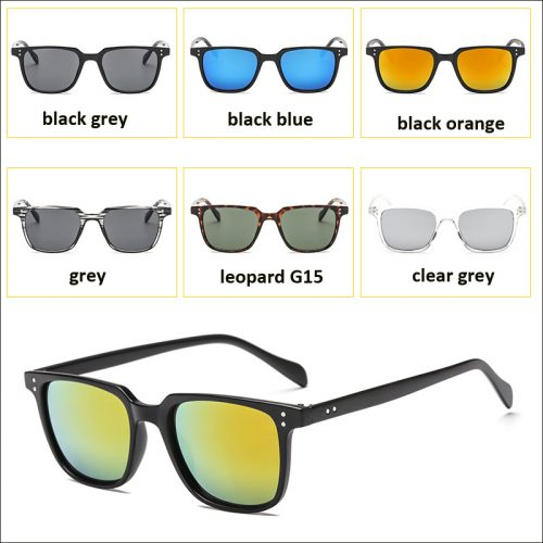 Flat square sunglasses