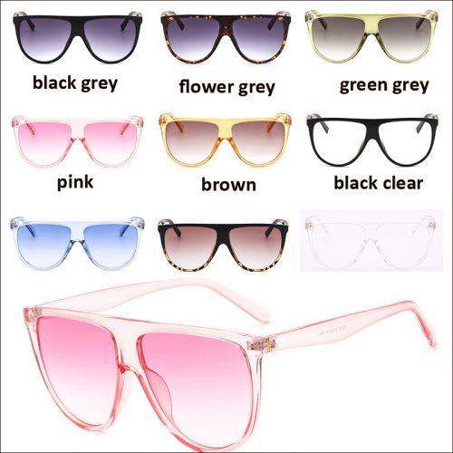 Flat top oval sunglasses