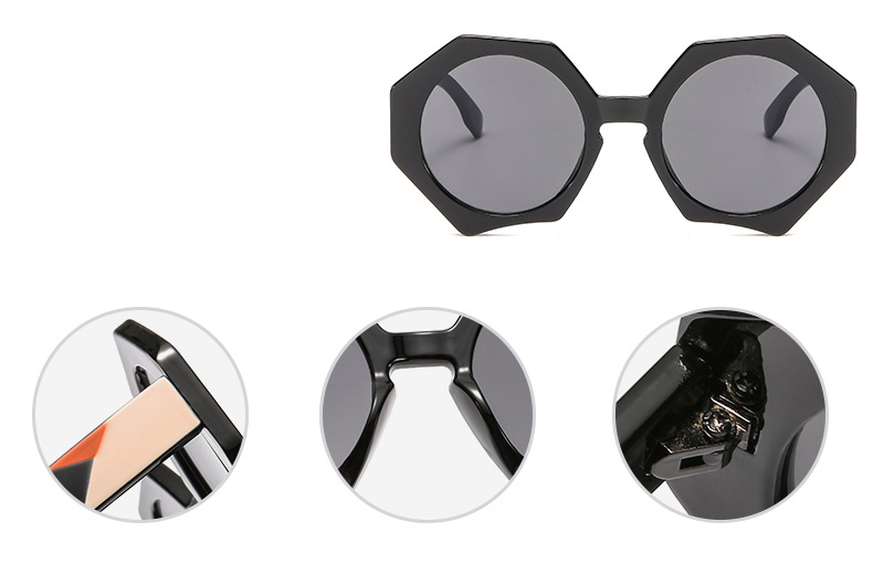 Hexagon round lens sunglasses