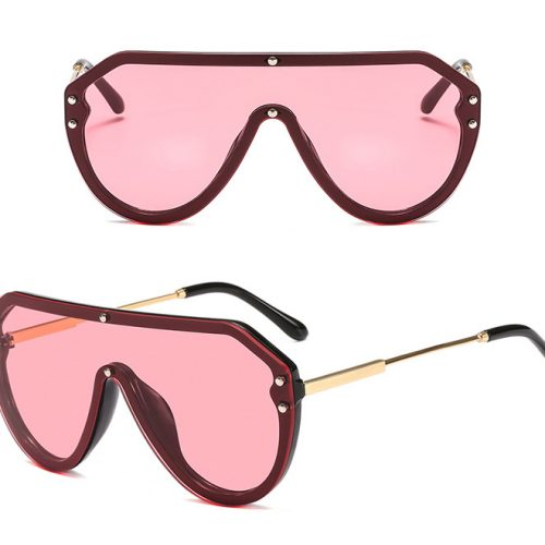 Oversized Oval shield sunglasses