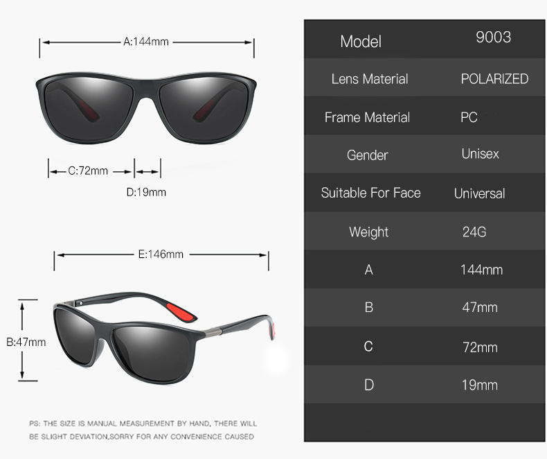 Mens Polarized Motorcycle Sunglasses Wholesale Ultralight TR90 Cycle