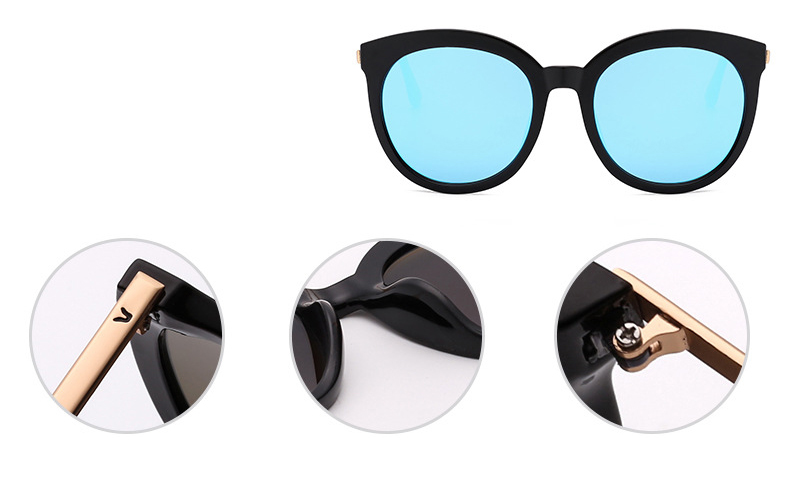 Polarized big round sunglasses