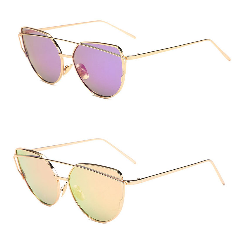 metal cat eye sunglasses for women