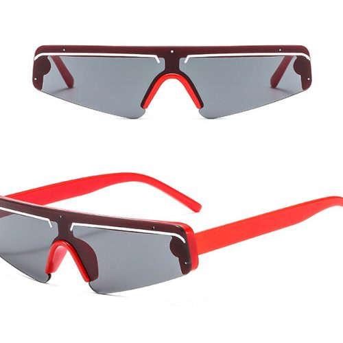 Single lens Triangle sunglasses