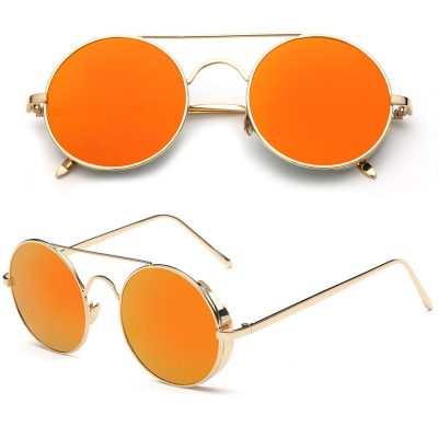 Wholesale round sunglasses women popular fashion unisex sunglass FLXX02