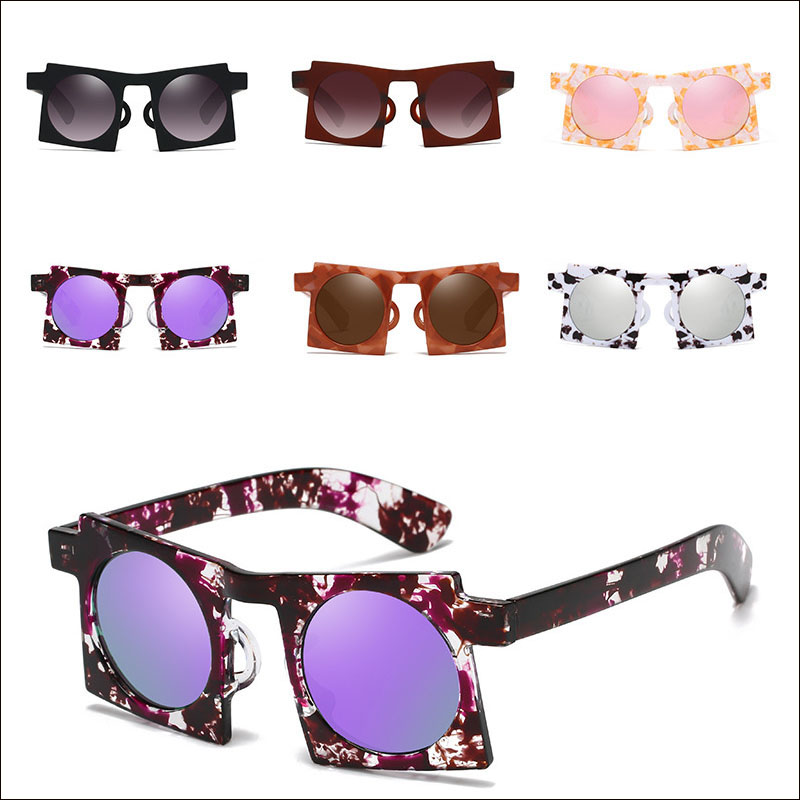 Women retro square sunglasses