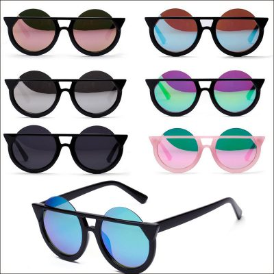 Women Round Cateye Sunglasses