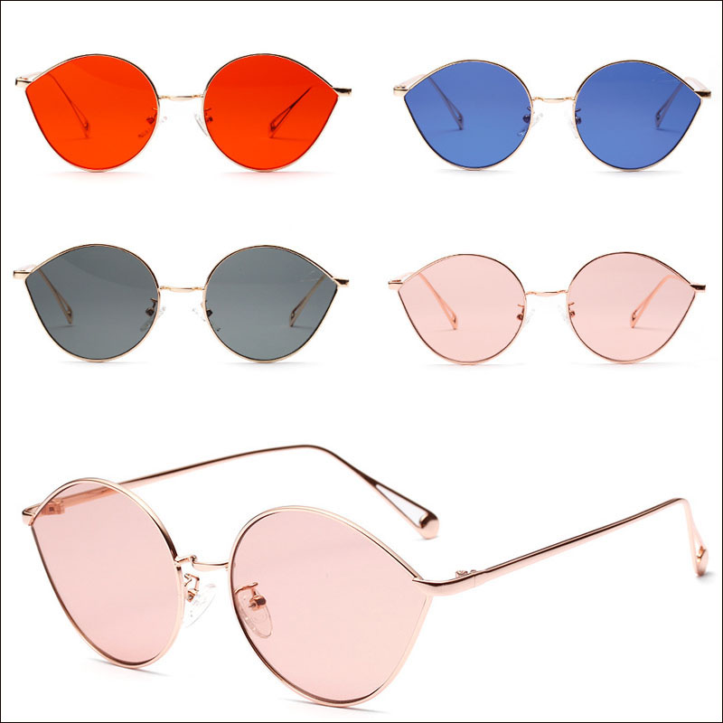 Cateye round women sunglasses