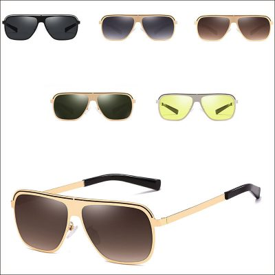 Square retro men sunglasses