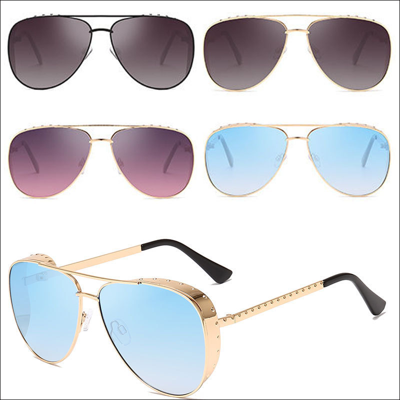 Classic mirror aviator sunglasses
