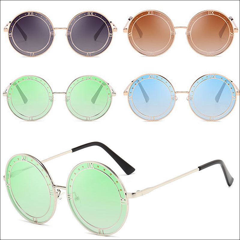 Roman retro round sunglasses