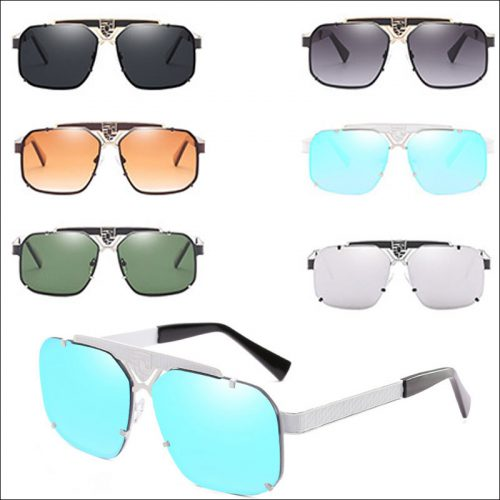 Square hollow metal sunglasses