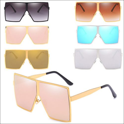 Designer oversized square sunglasses