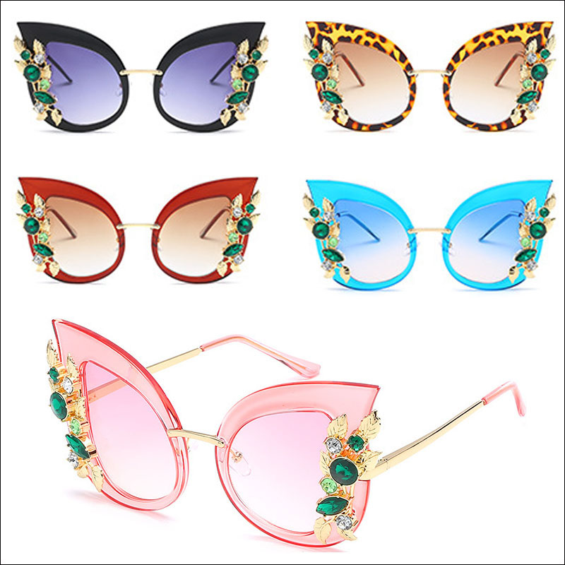 Diamond cateye women sunglasses