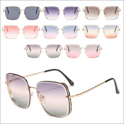 Square mirror women sunglasses