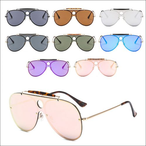 Oversized retro aviator sunglasses
