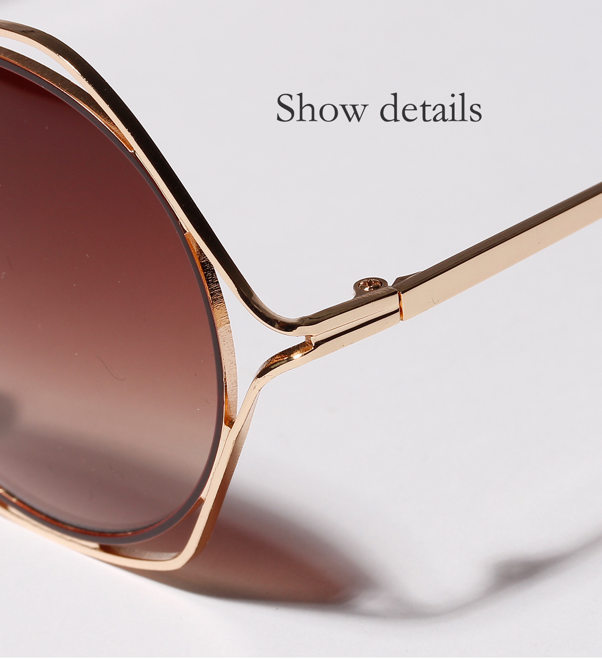 Cateye hexagon women sunglasses