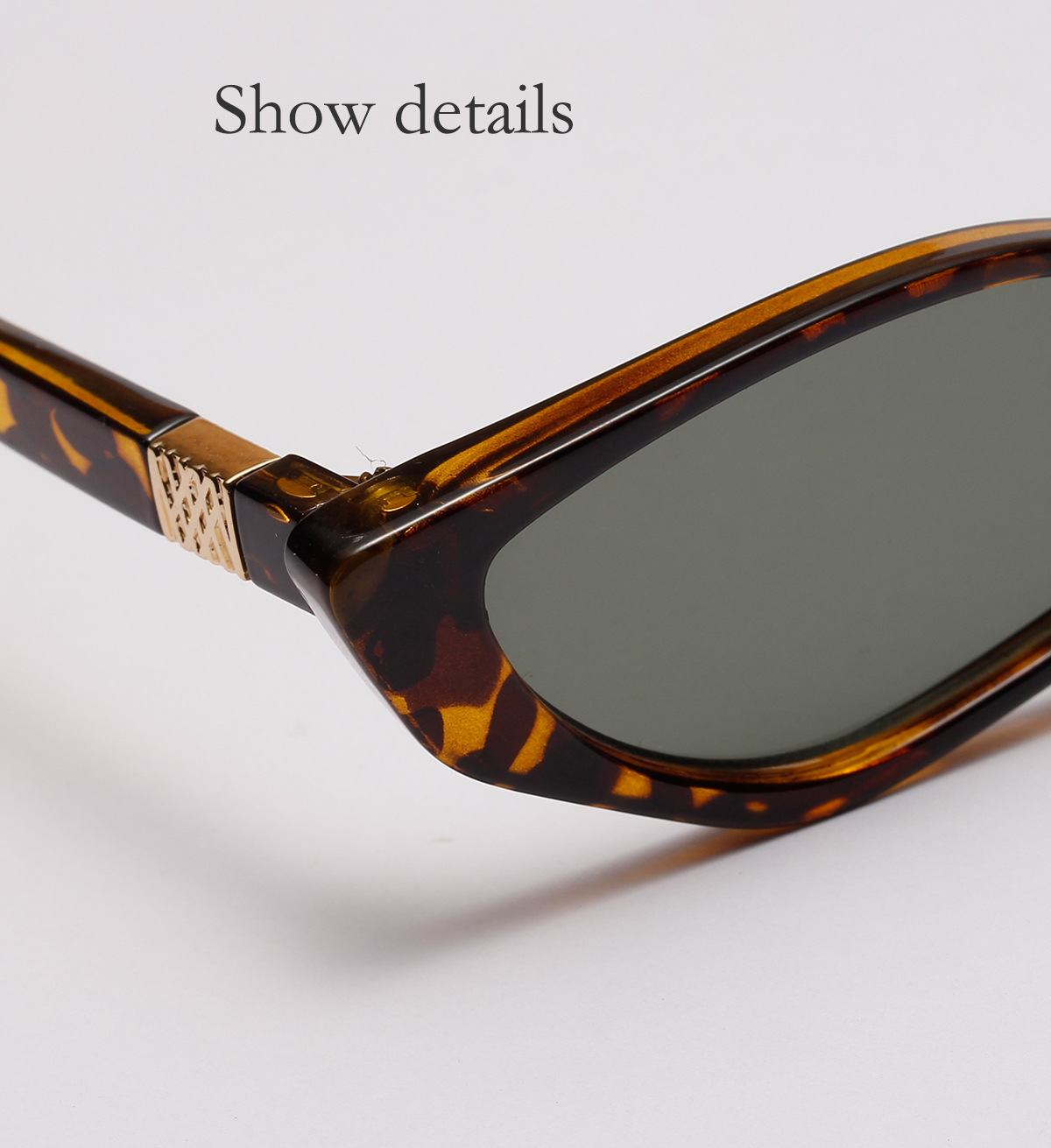triangle small retro sunglasses