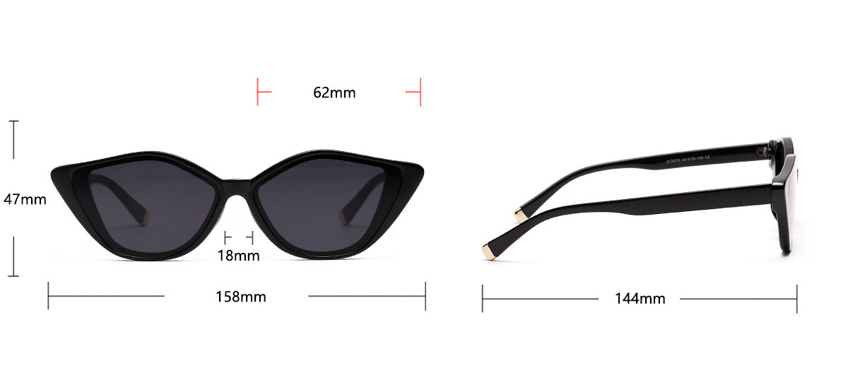 Small cateye female sunglasses