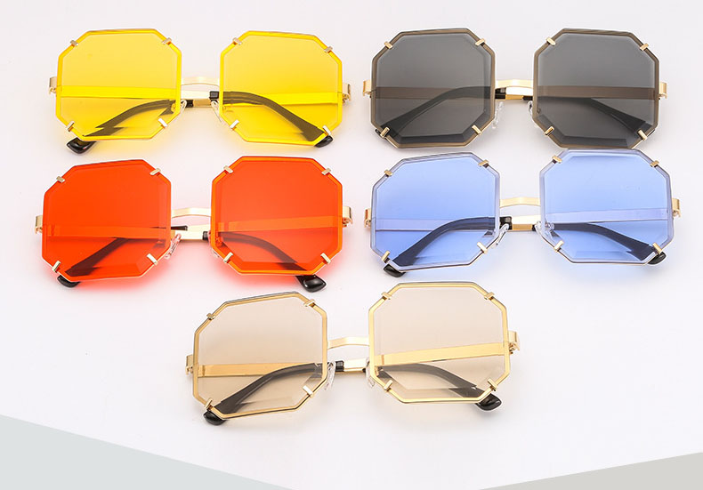 Square metal sunglasses wholesale