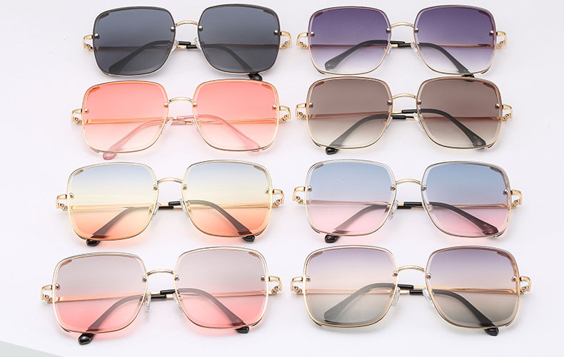 Square mirror women sunglasses unisex sunglass
