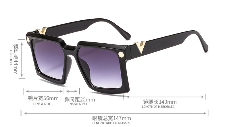 Designer square sunglasses