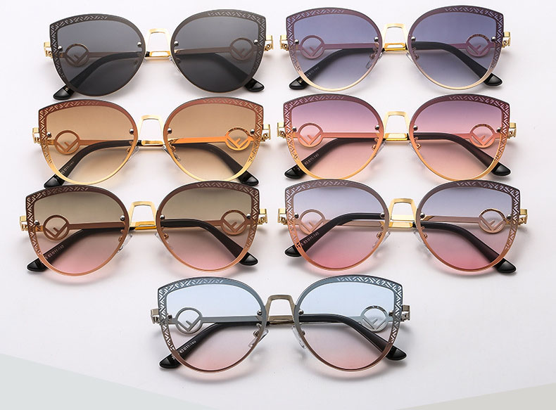 Cat eye metal sunglasses wholesale