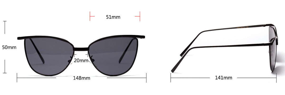 Cateye vintage women sunglasses