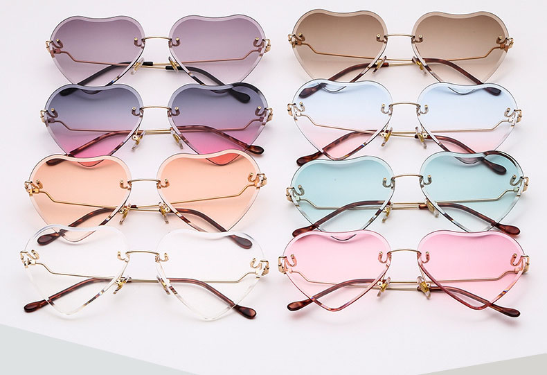 Heart metal sunglasses wholesale
