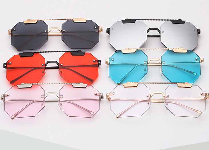 Polygon square sunglasses wholesale