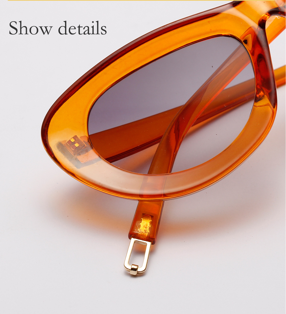 Candy oversized cateye sunglasses