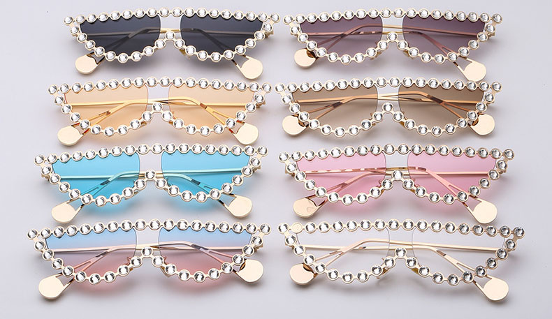 Cateye pearl women sunglasses