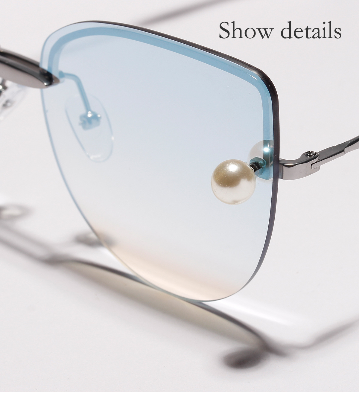 Cateye metal transparent sunglasses