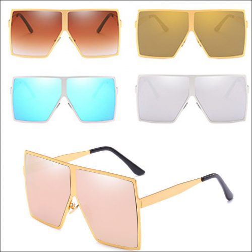New square oversized sunglasses