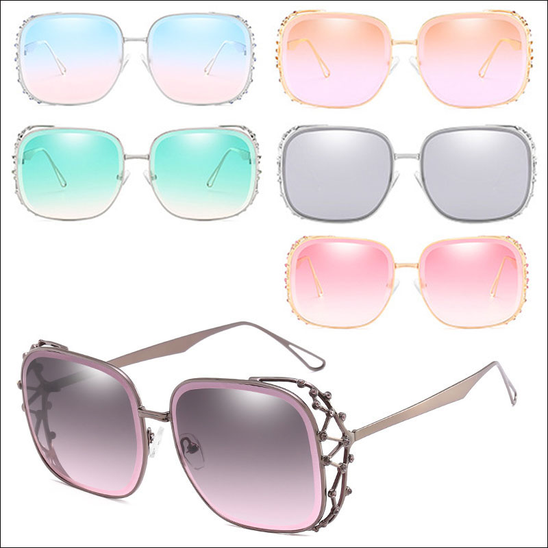 Hollow diamond lady sunglasses