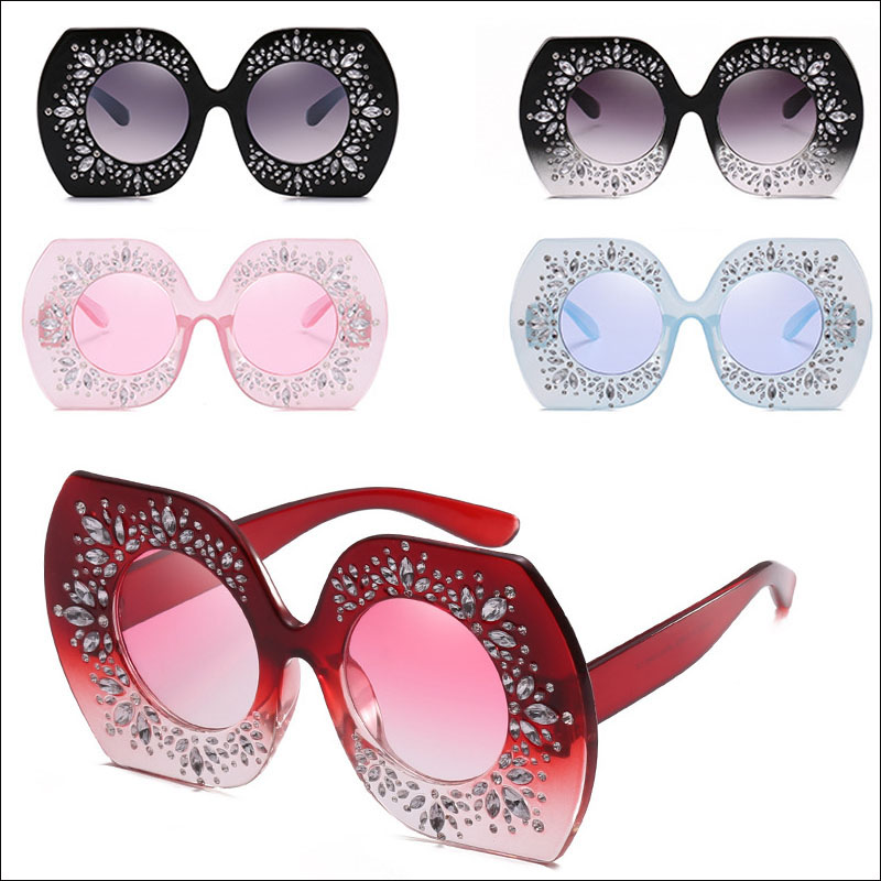 Irregular rhinestone womens sunglasses