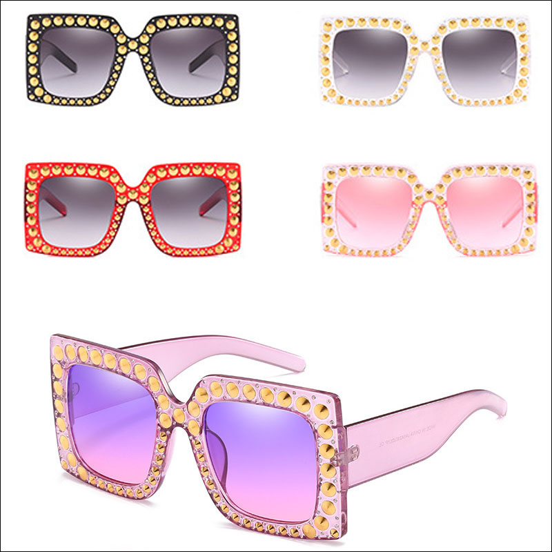 Transparent purple women sunglasses