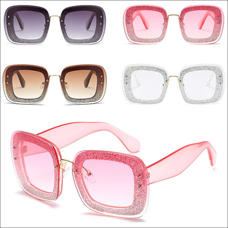 Square bling women sunglasses