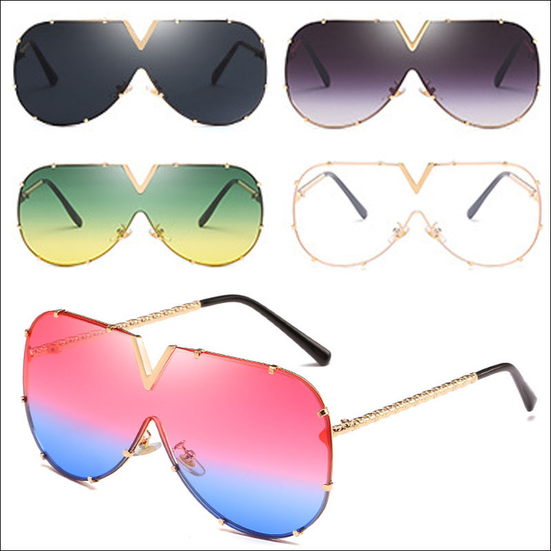 Oversized designer women sunglasses