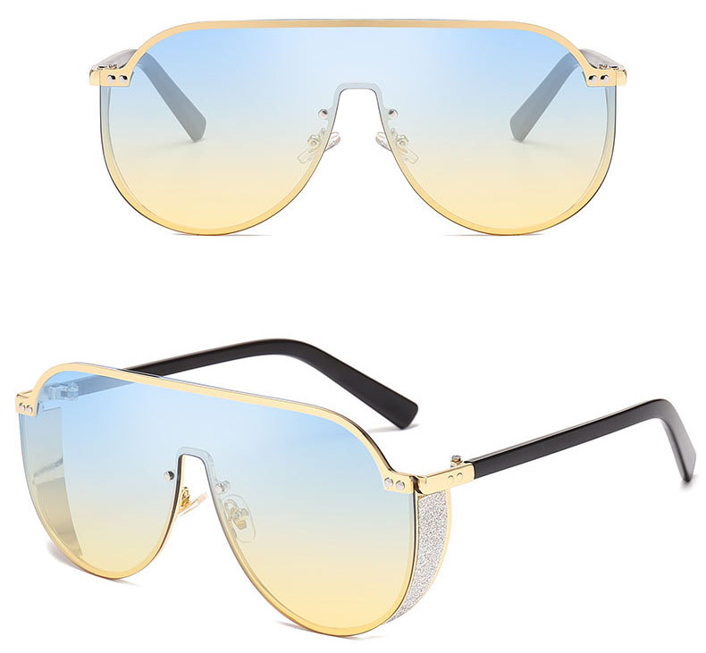 Irregular bling women sunglasses