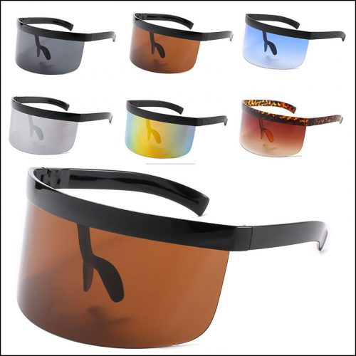 Designer Single Shield Sunglasses oversized ,#NQ5307