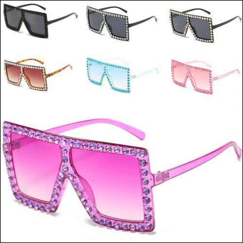 Womens bling bling sunglasses diamond oversized square sunglass wholesale,#NQ9927