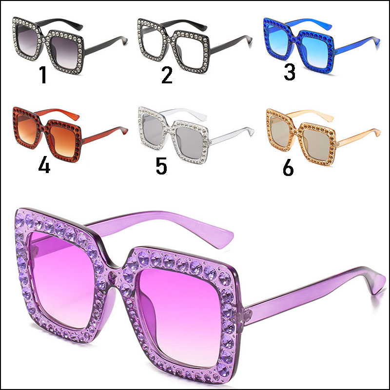 Women diamond sunglasses oversized