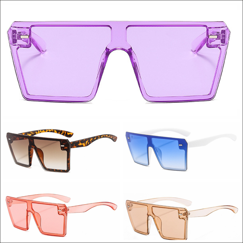 New rimless purple orange crystal square women mens vintage sunglasses wholesale