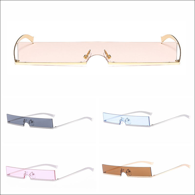 Wholesale Small rectangle metal frame lightweight sunglasses for womens